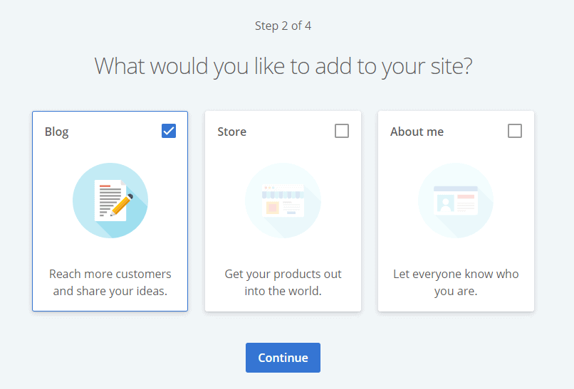 bluehost tailor website making according to usage