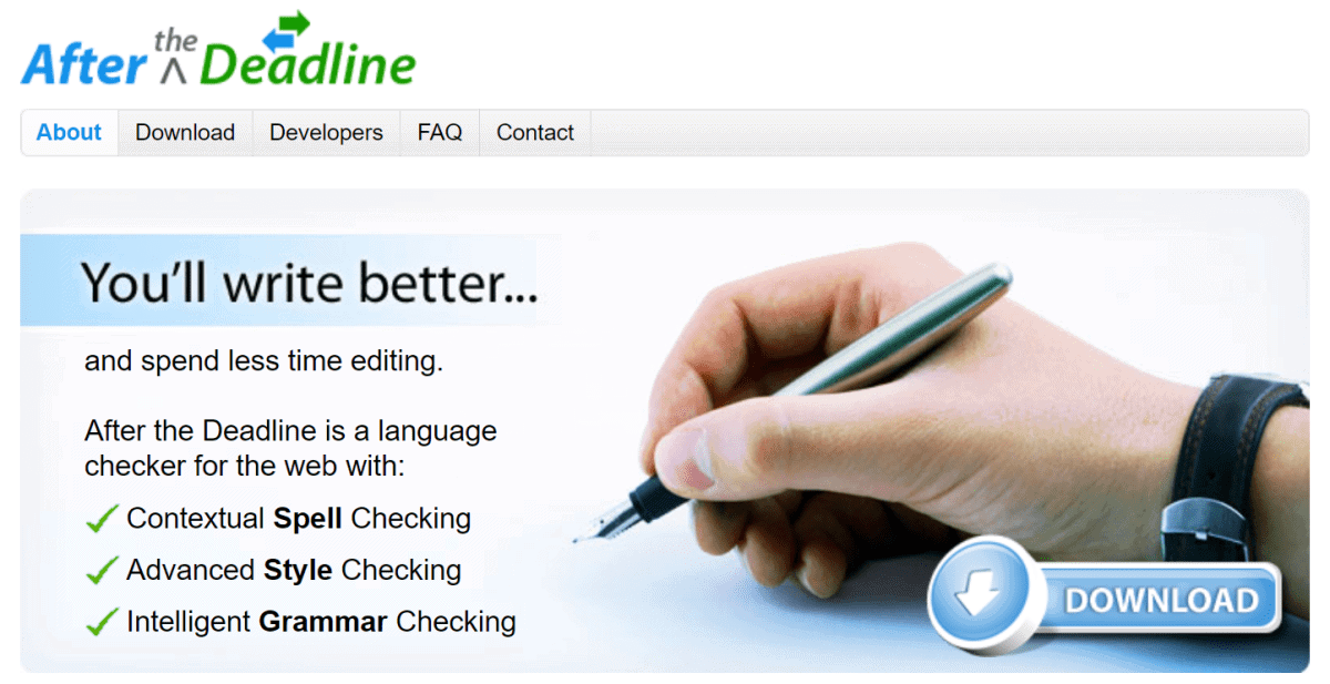 after the deadline website homepage
